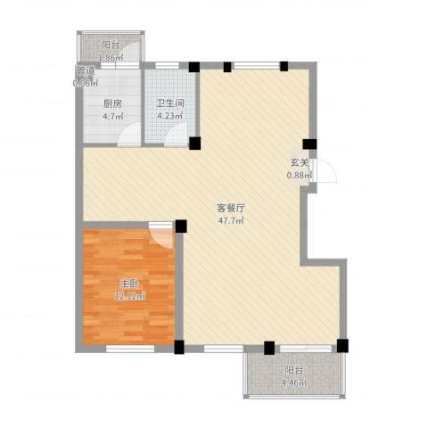 繁裕新村1室2厅1卫1厨94.00㎡户型图