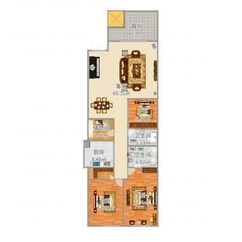 东城逸墅3室1厅2卫1厨190.00㎡户型图