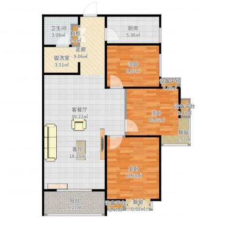 新旅城3室2厅1卫1厨109.00㎡户型图