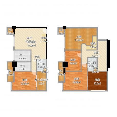 橙仕空间4室1厅2卫1厨179.00㎡户型图