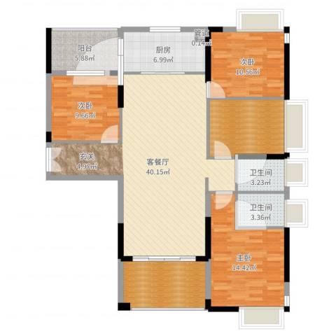 宁海尚峰4室2厅3卫1厨140.00㎡户型图