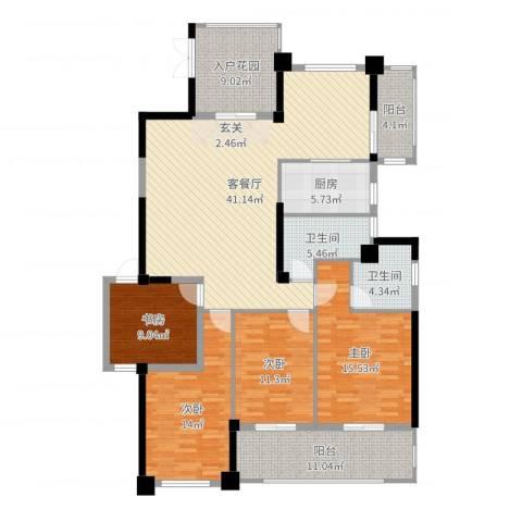 郦景阳光二期4室2厅2卫1厨163.00㎡户型图