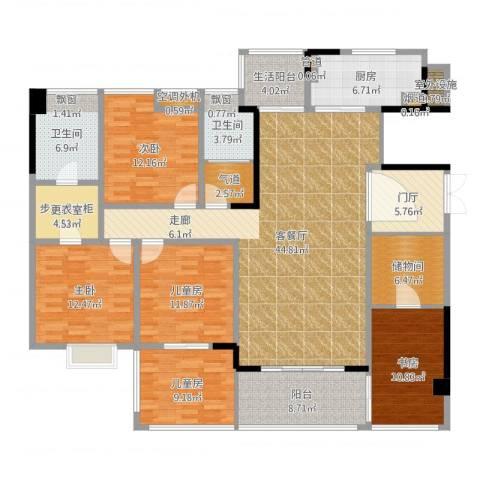 归心苑5室2厅5卫4厨190.00㎡户型图