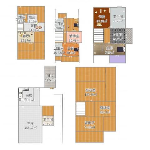 青枫墅园3室2厅5卫2厨1966.00㎡户型图