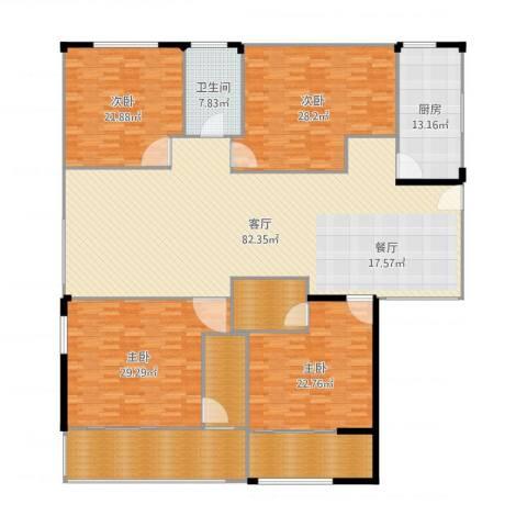 荣域花园4室1厅1卫1厨302.00㎡户型图