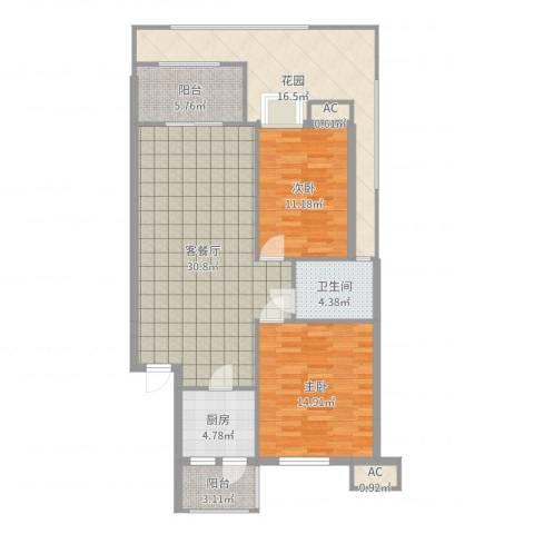 幸福里2室2厅1卫1厨116.00㎡户型图