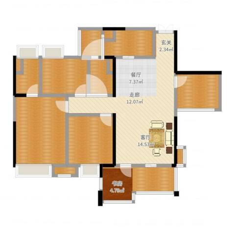 时代倾城6室1厅4卫4厨120.00㎡户型图