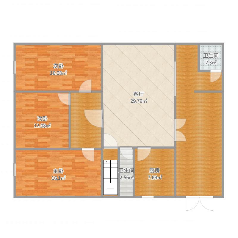 自建三室一厅