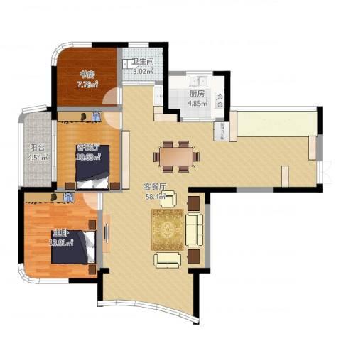 水墨兰庭2室4厅1卫1厨129.00㎡户型图