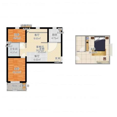 紫韵枫尚3室2厅3卫3厨112.00㎡户型图