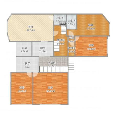 翠湖温泉花园4室2厅2卫2厨187.00㎡户型图