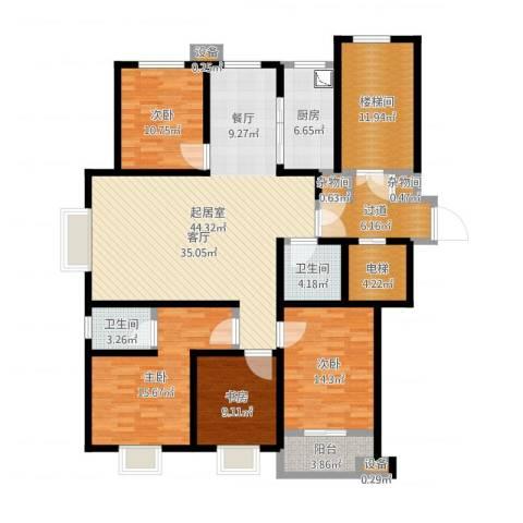 高速仁和盛庭8室1厅4卫1厨170.00㎡户型图