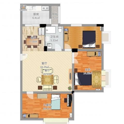 华南碧桂园别墅2室1厅1卫1厨112.00㎡户型图