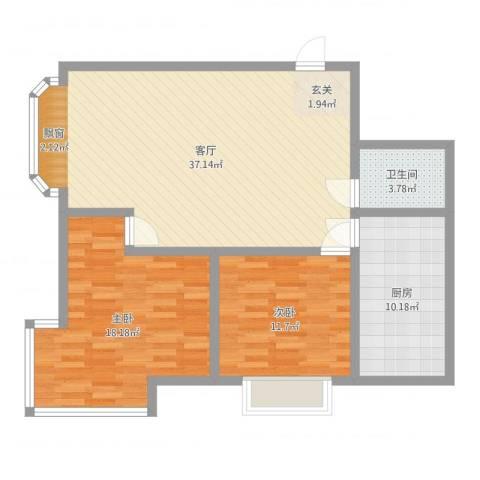 公务员小区二期2室1厅1卫1厨101.00㎡户型图