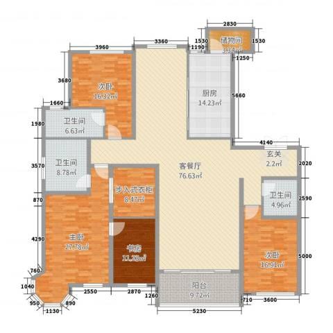 容大铂郡4室2厅3卫1厨257.00㎡户型图