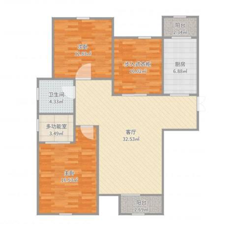 天房海天园2室1厅1卫1厨115.00㎡户型图