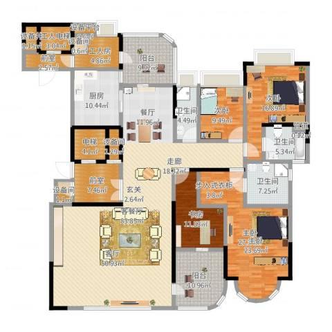 珠江御景湾8室4厅6卫2厨280.00㎡户型图