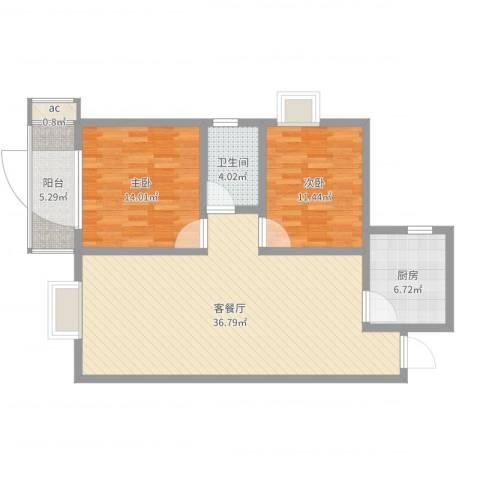 城西印象2室2厅2卫1厨99.00㎡户型图