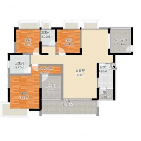 香樟国际3室2厅2卫1厨167.00㎡户型图