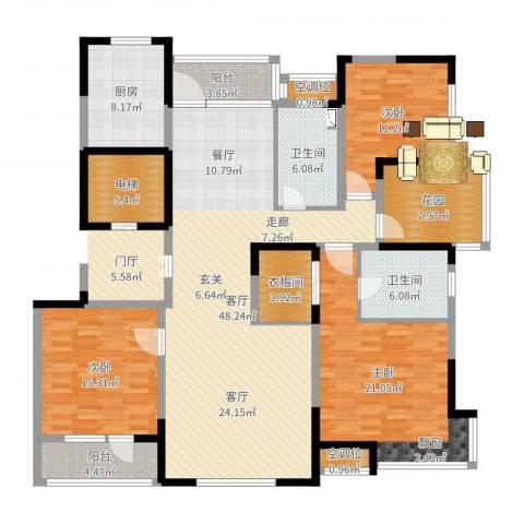 汇置公园里・怡林4室2厅5卫1厨180.00㎡户型图