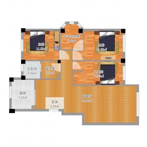 三鼎春天4室2厅3卫1厨123.00㎡户型图