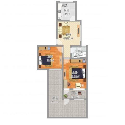 康乐小区(徐汇)2室1厅1卫1厨88.00㎡户型图