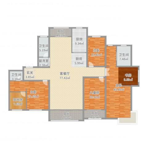 和润香堤4室4厅3卫1厨284.00㎡户型图