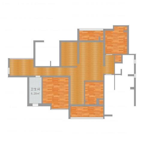 古城华景苑4室1厅2卫1厨181.00㎡户型图