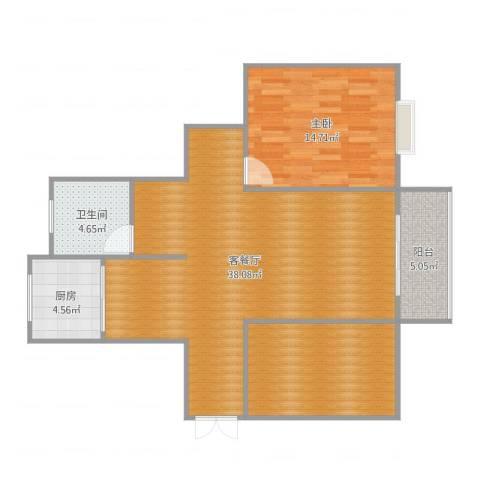 海韵嘉园19号楼14011室2厅1卫1厨98.00㎡户型图