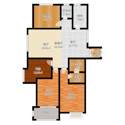 舜奥华府3室2厅1卫1厨181.00㎡户型图