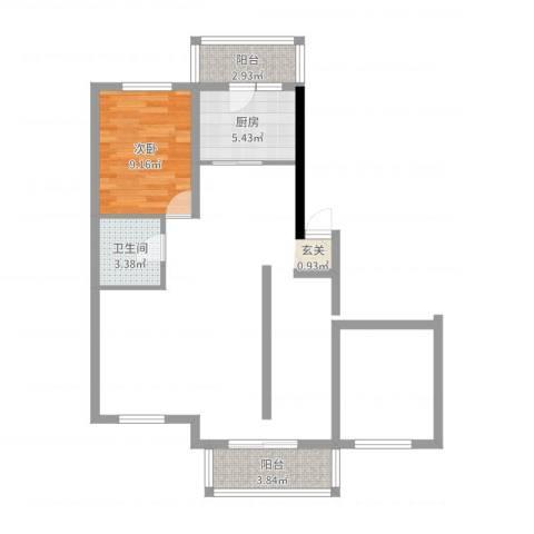 大自然家园3室2厅1卫1厨90.00㎡户型图