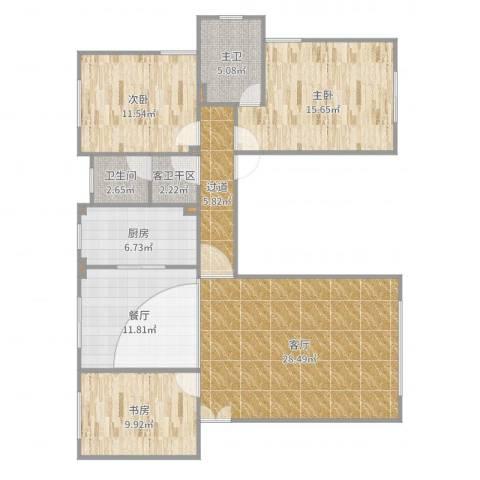 红枫苑2-1-4013室2厅1卫1厨125.00㎡户型图