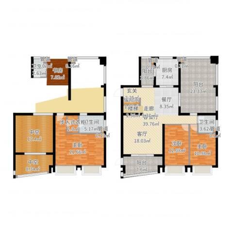 中海胥江府3室2厅3卫1厨210.00㎡户型图