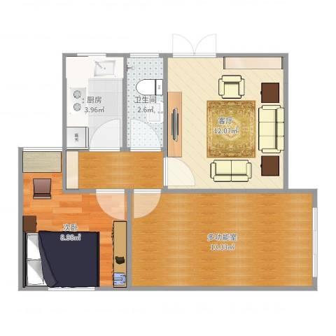 槟榔东里1室1厅1卫1厨55.00㎡户型图