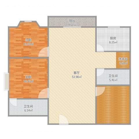 裕盛园A栋012室1厅2卫1厨152.00㎡户型图