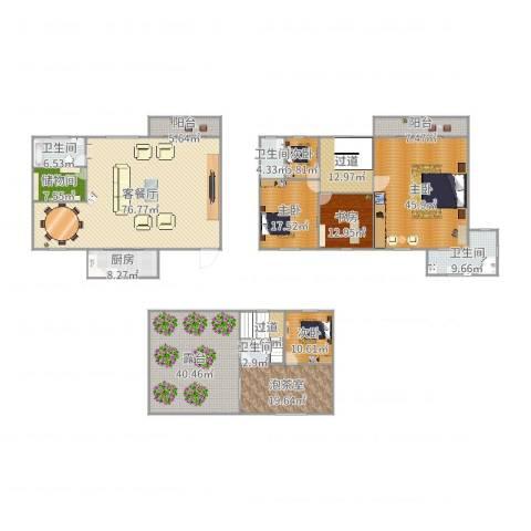 汇禾新城5室2厅4卫1厨377.00㎡户型图
