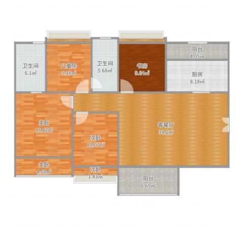 夏逸庭院6室2厅4卫1厨150.00㎡户型图