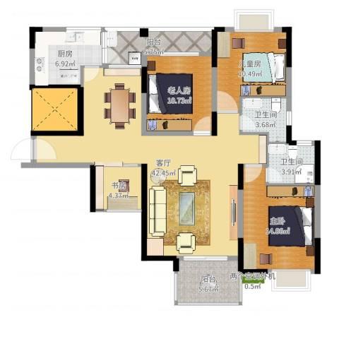 厦航同城湾4室1厅2卫1厨135.00㎡户型图