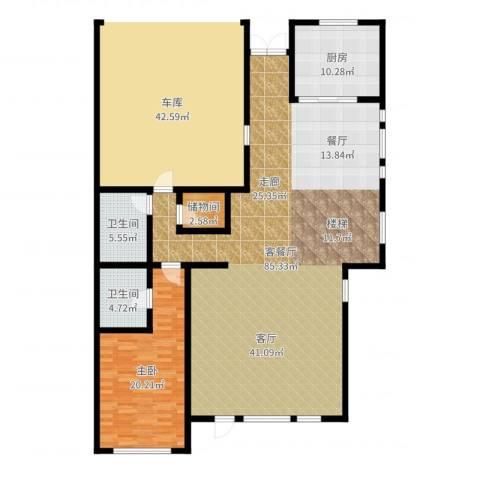 胜宏景苑1室2厅2卫1厨161.00㎡户型图