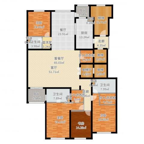 大华清水湾花园三期华府樟园4室2厅3卫1厨304.00㎡户型图