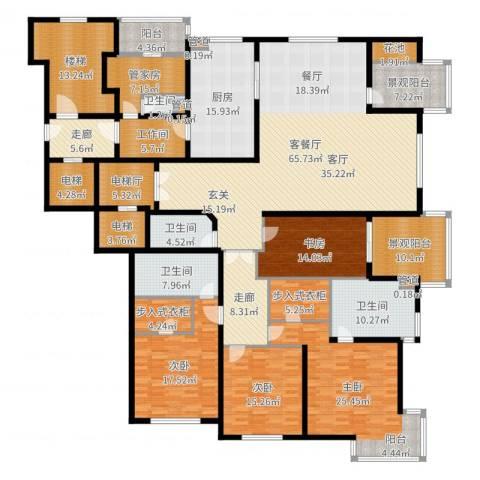 大华清水湾花园三期华府樟园4室2厅4卫1厨331.00㎡户型图