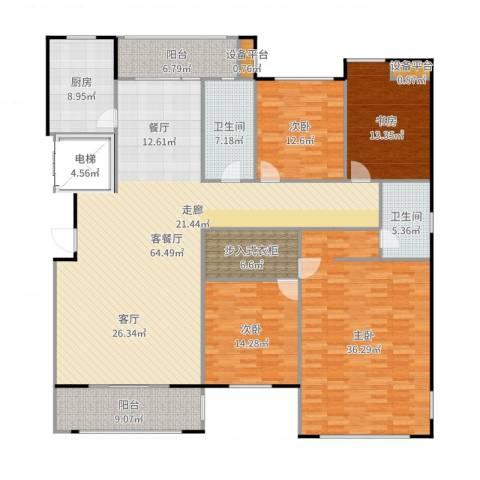 金鼎湾国际4室2厅4卫2厨239.00㎡户型图