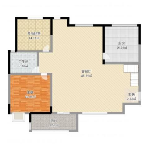 一品名门云墅1室2厅1卫1厨192.00㎡户型图