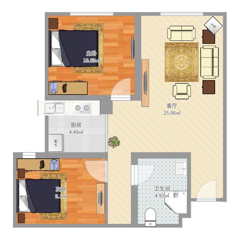 保利 2居室