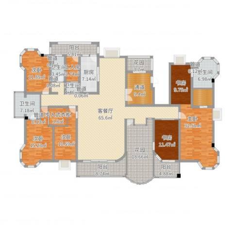 优山美地5室2厅4卫1厨296.00㎡户型图