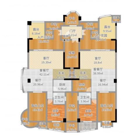 源昌鑫海湾2室4厅2卫2厨299.00㎡户型图