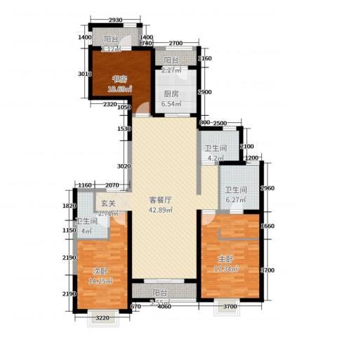 富力城辰栖谷3室2厅3卫1厨160.00㎡户型图