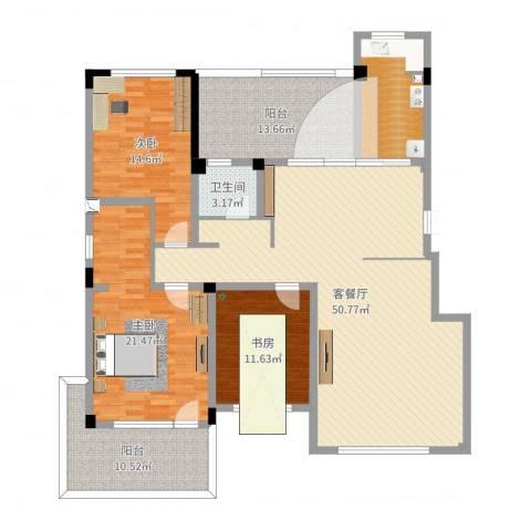 豪邦缇香公馆3室2厅1卫1厨167.00㎡户型图