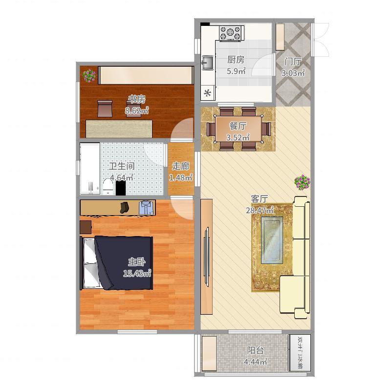 新纪家园-9号楼2单元17层-西南向