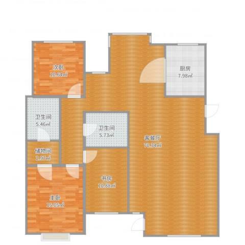 巨海城九区3室2厅2卫1厨161.00㎡户型图